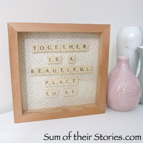 Framed Scrabble Tile Quote