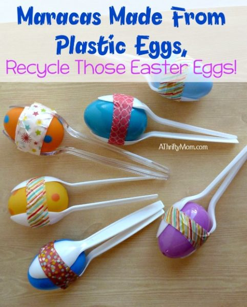 maracas made from plastic eggs recycle those easter eggs maracas diy crafts thriftycrafts kidscrafts washitape eggs easter plasticspoons thriftycrafting boredombuster
