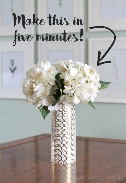 Geometric Metallic Vases