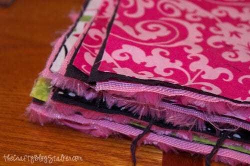 layered stacks of fabric