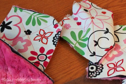 squares with an X sewed through