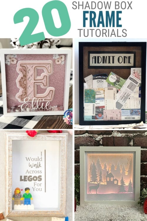 title image for 20 Trending Crafts made with Shadow Box Frames