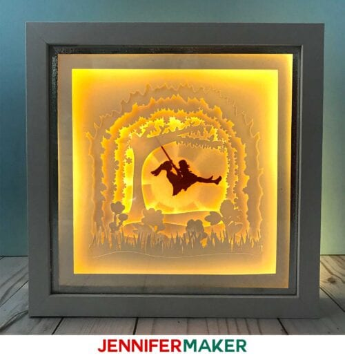 Paper Art Shadow Box