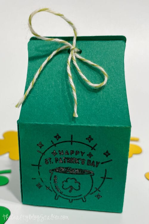 treat box for st patricks day