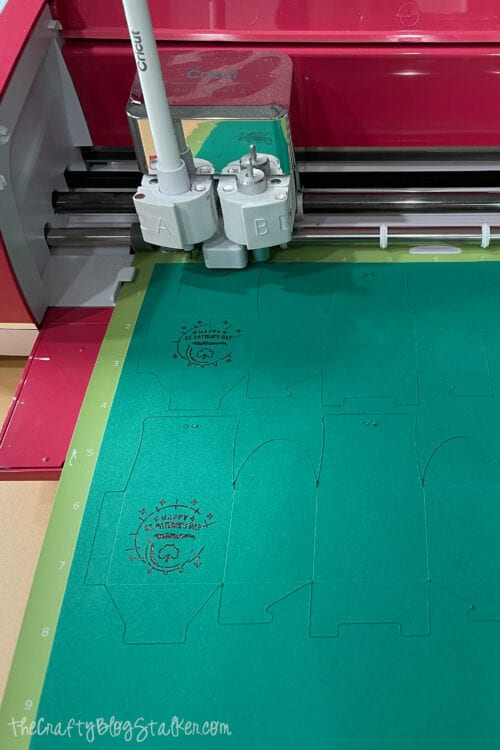 project being cut out on a Cricut Explore