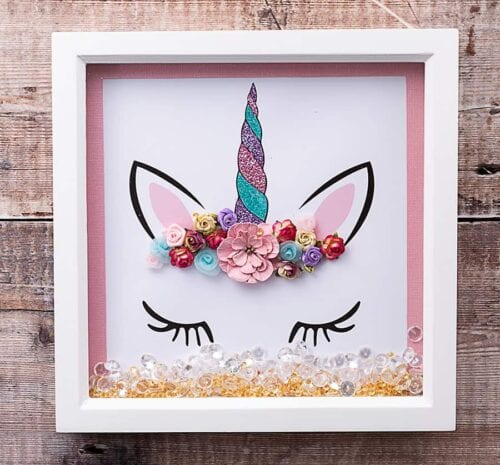 Unicorn Shadow Box