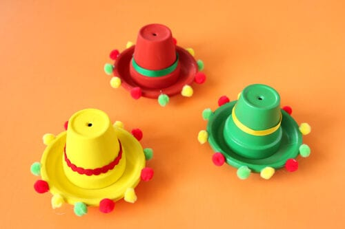 Clay Pot Sombrero Table Decorations