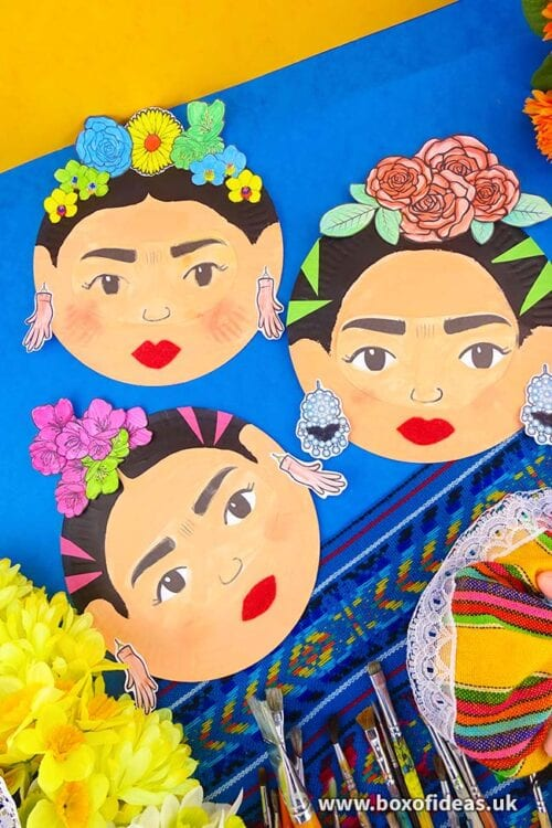 Frida Kahlo Faces From Hispanic Heritage Craft Project