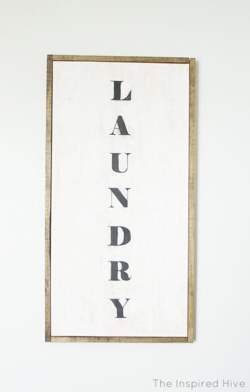 diy laundry room art