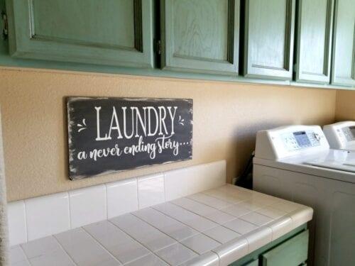 farmhouse laundry sign