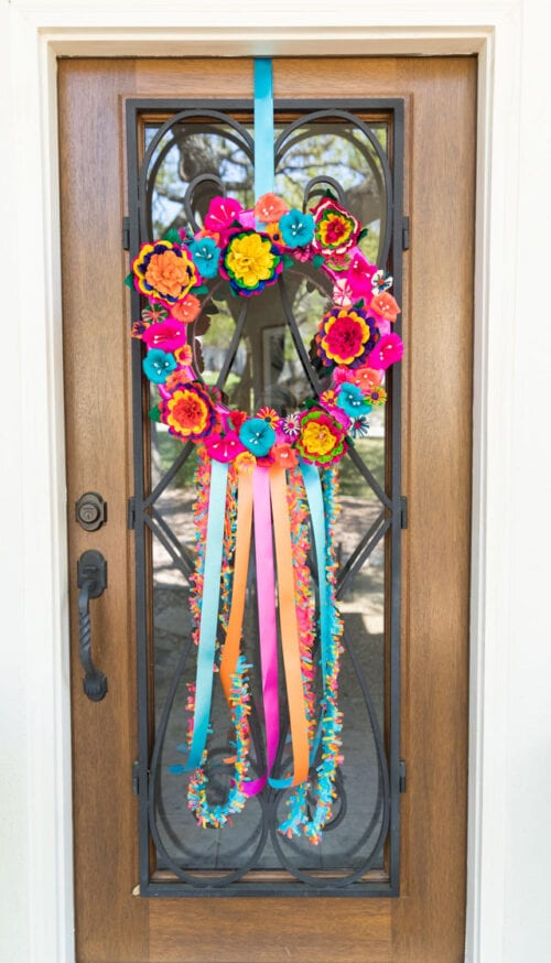 how to make a fiesta wreath