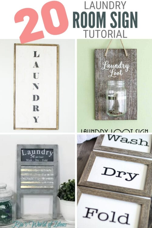 title image for 20 DIY Laundry Room Signs for Wall Decor