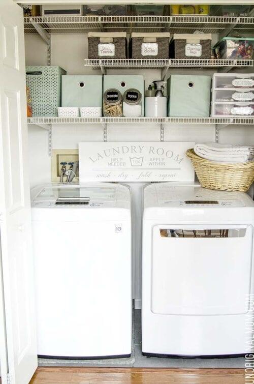 multi purpose laundry closet organization