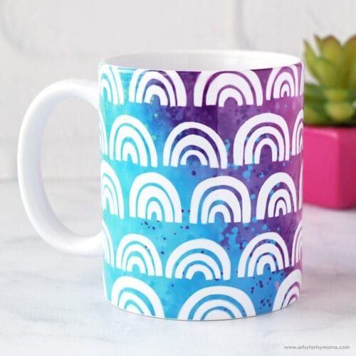 Free Rainbow Mug Wrap