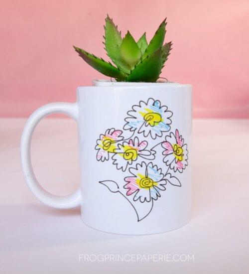Hand Drawn Florals Mug