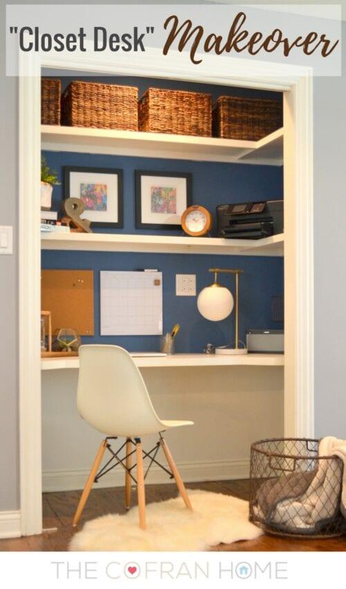 Closet Desk Makeover