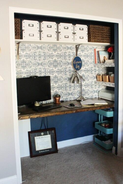 Closet Office Reveal