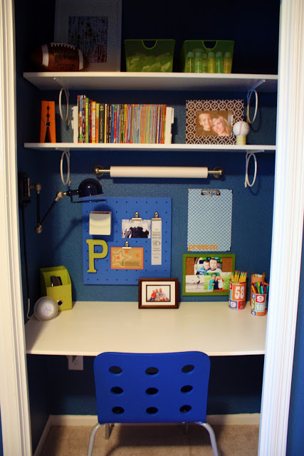Kid's Closet Study Zone