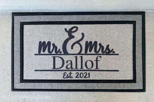 Mr. & Mrs. Dallof Front Door Mat