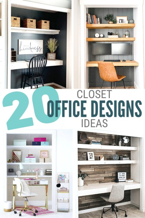 title image for 20 Closet Office Design Ideas