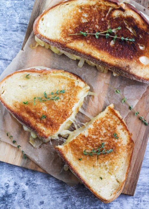 french onion provolone grilled cheese