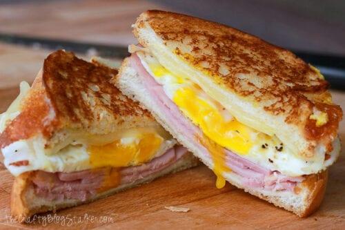 ham egg cheese grilled sandwich
