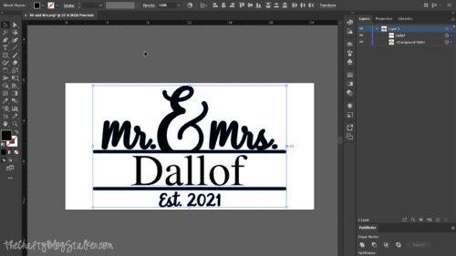 creating design in Adobe Illustrator