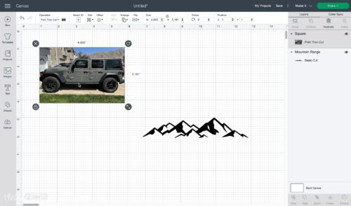 insert an image in the rectangle in cricut design space