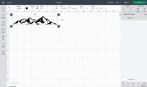 mountain range design in cricut design space
