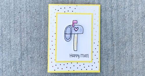 happy mail handmade card 23