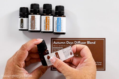 applying the label from the subscription box