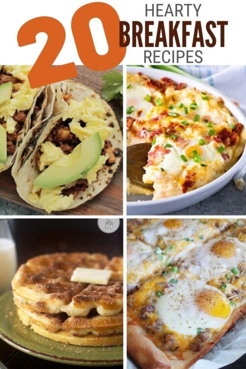 title image for 20 Hearty Breakfast Recipe Ideas