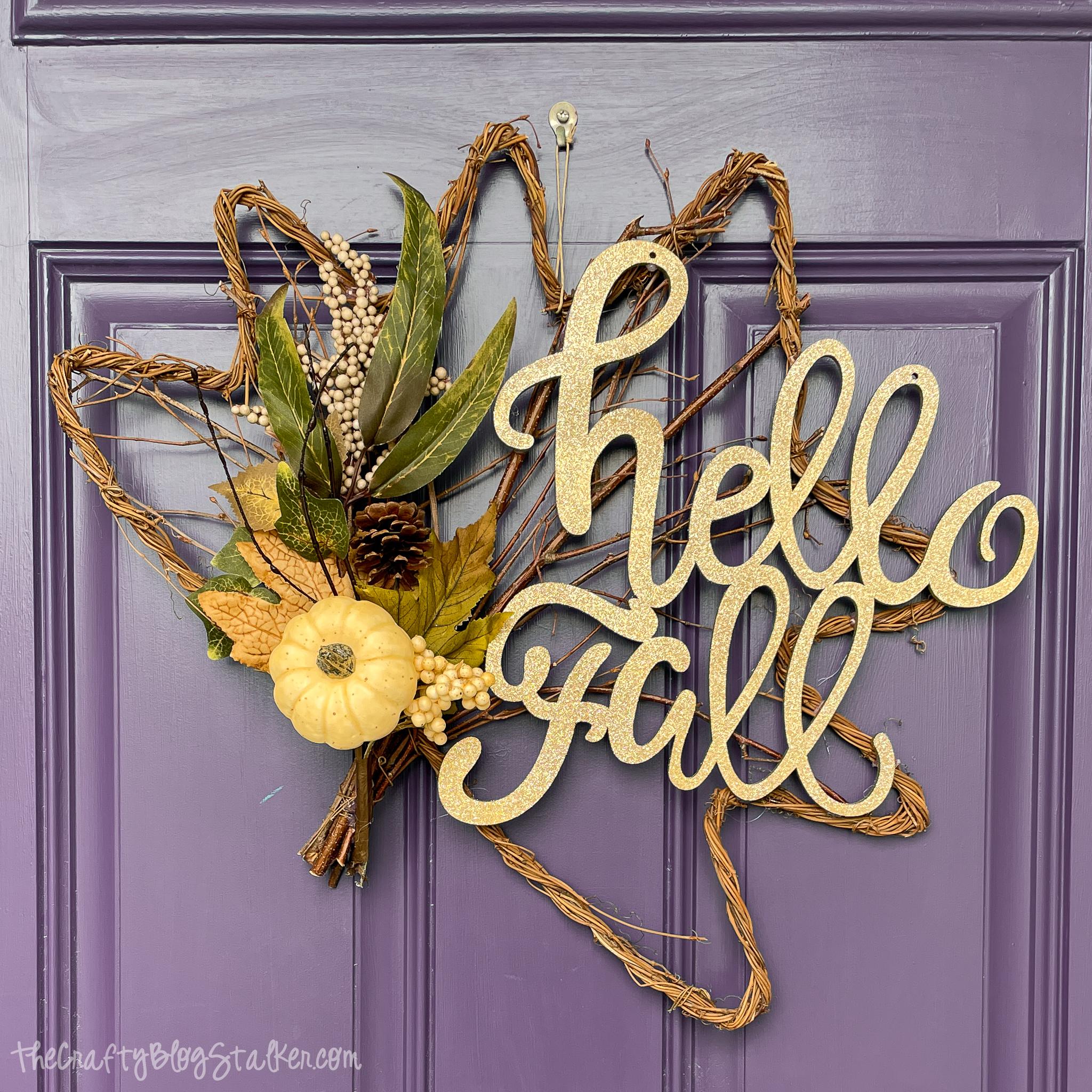 hello fall door hanger 10