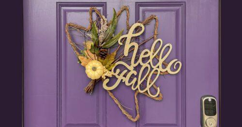 hello fall door hanger 12