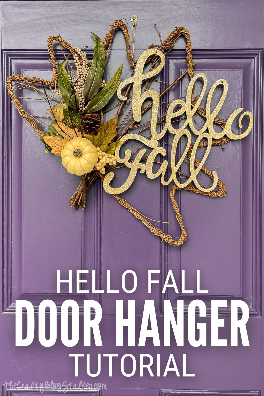 title image for How to Make a Happy Fall Door Hanger