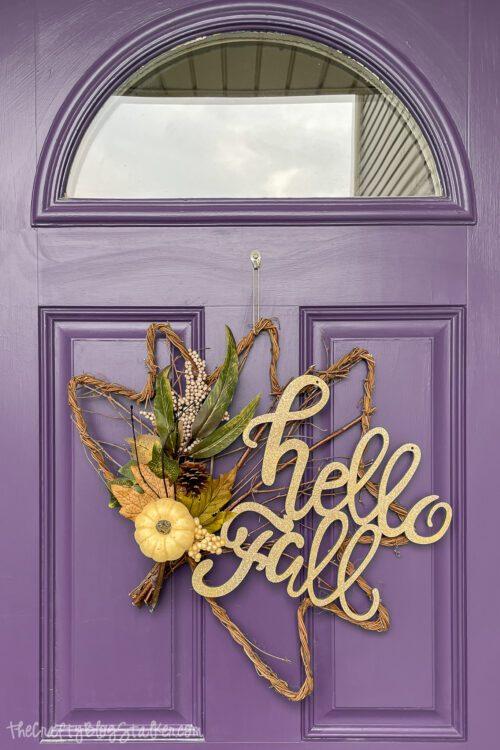 hello fall door hanger