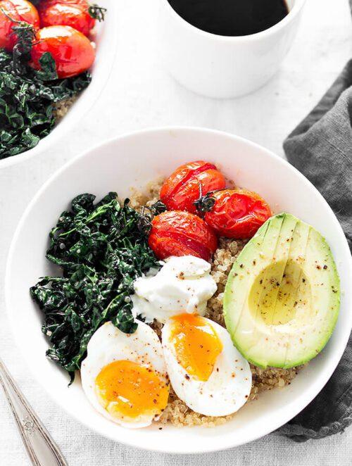 savory quinoa breakfast bowls