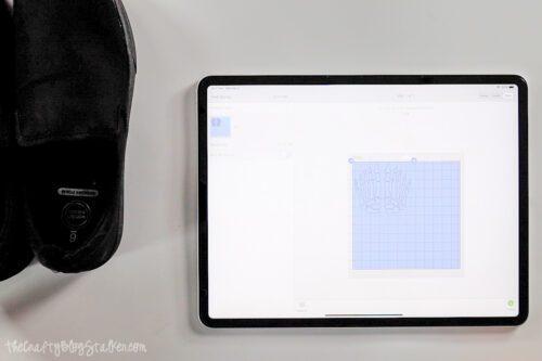 Cricut Design Space on an iPad