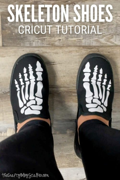 title image for How to Make Skeleton Shoes with Iron-On Vinyl